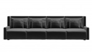 Canapé CDI Collection Club 4 Seater Sofa Leather Black 1