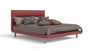 Bed CDI Collection King Bed Red