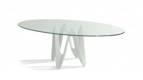Table Sovet Lambda Elliptical White