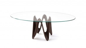 Table Sovet Lambda Elliptical Walnut
