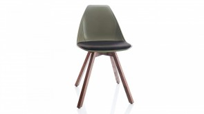 Chaise CDI Collection X Wood Green/Noir