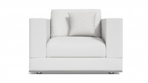Armchair CDI Collection Travel Armachair Leather White