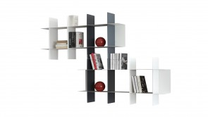 Library Innesto White Bookcase