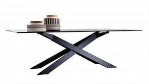Table Sovet Cross Black and Smoked