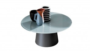 Coffee table Sovet Totem Round 35 White