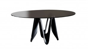Table Sovet Lambda Round Black