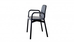 Chair Sovet Two Tone Armchair Black Leather 1